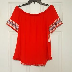NWT New Directions Off The Shoulder Top